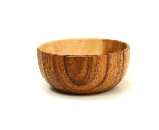 Тарелка деревянная глубокая из акации D16 H7, фото , изображение 2
