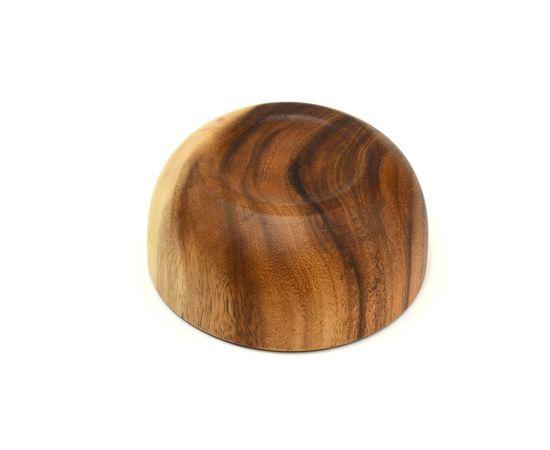 Тарелка деревянная глубокая из акации D16 H7, фото , изображение 5