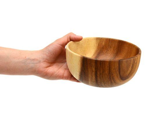 Тарелка деревянная глубокая из акации D16 H7, фото , изображение 4