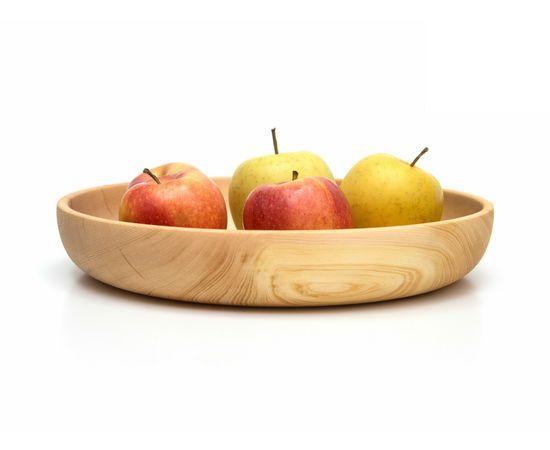 Тарелка деревянная большая D29 H5. Деревянная посуда для кухни, фото , изображение 2