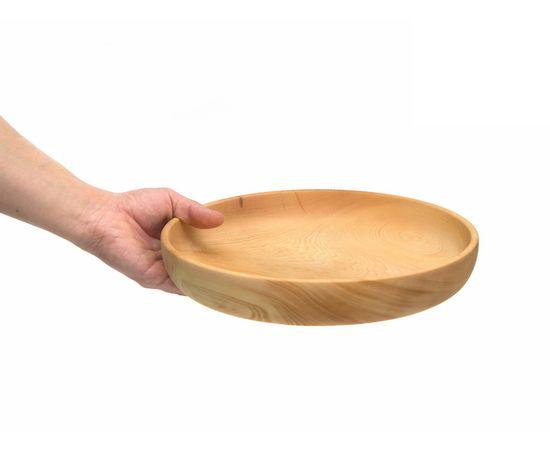 Тарелка деревянная большая D29 H5. Деревянная посуда для кухни, фото , изображение 5