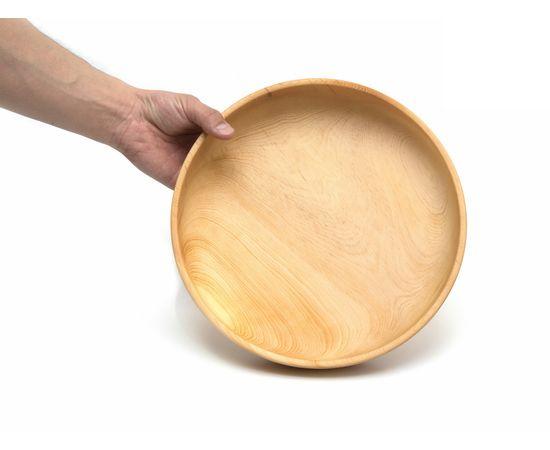 Тарелка деревянная большая D29 H5. Деревянная посуда для кухни, фото , изображение 6