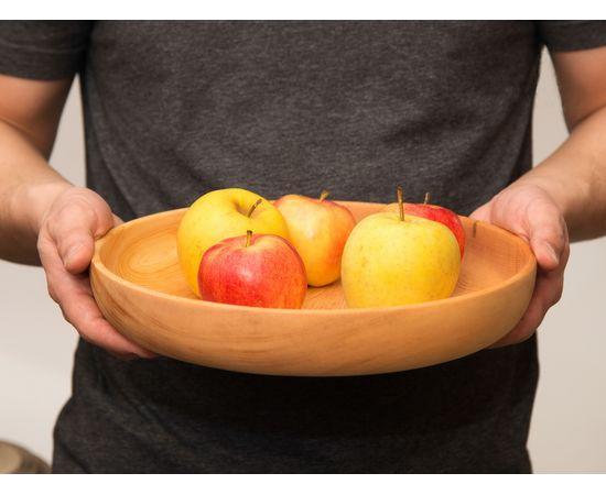 Тарелка деревянная большая D29 H5. Деревянная посуда для кухни, фото , изображение 7