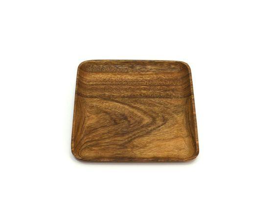 Тарелка деревянная квадратная из акации 25х25. Тарелка для закусок, фото , изображение 5