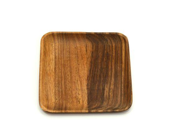 Тарелка деревянная квадратная из акации 20х20, фото , изображение 2