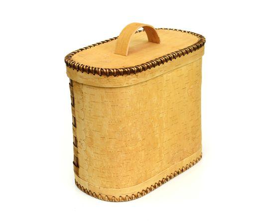 Хлебница плетеная высокая. Короб из бересты, фото , изображение 7