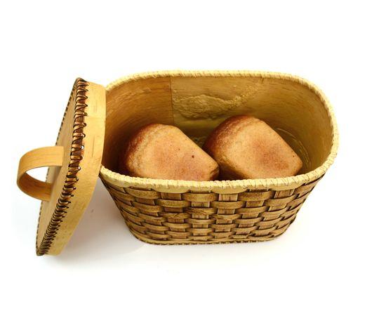 Хлебница плетеная высокая. Короб из бересты, фото , изображение 5