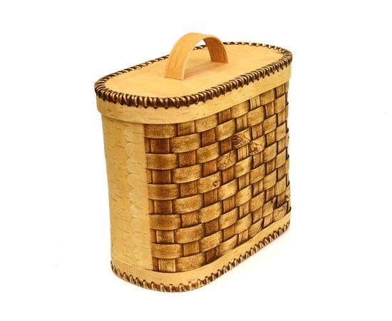Хлебница плетеная высокая. Короб из бересты, фото , изображение 2