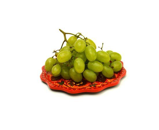"""Тарелка - поднос маленький хохлома """"Цветы"""" D20, фото , изображение 2"""
