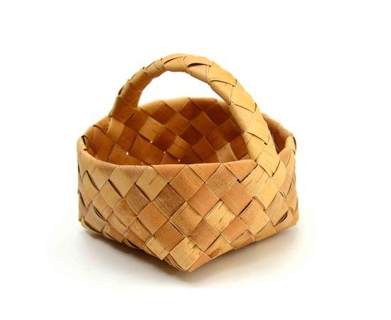 Корзинка из бересты плетеная маленькая 16х16, фото