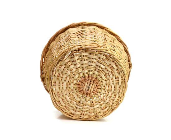 Корзина большая плетенная из лозы для ягод, грибов 16 л, фото , изображение 3