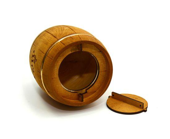 Бочонок для меда «Бондарь» темный 1,0 кг, фото , изображение 4