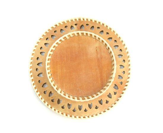 Тарелка из бересты под роспись D22, фото , изображение 2