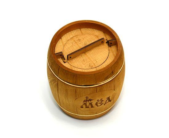 Бочонок для меда «Бондарь» темный 1,0 кг, фото , изображение 5