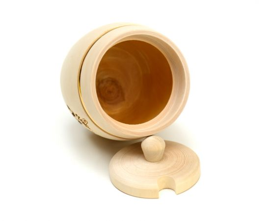 """Бочонок для меда """"Пасечник"""" 0,5 кг с вырезом под ложку, фото , изображение 2"""