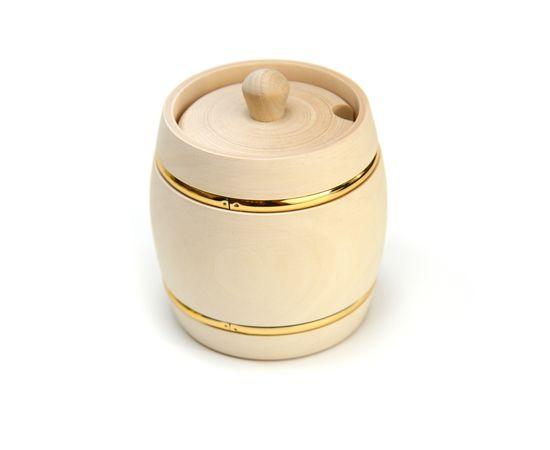 """Бочонок для меда """"Пасечник"""" 0,5 кг с вырезом под ложку, фото , изображение 5"""