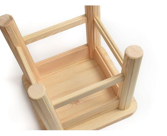 Табуретка деревянная низкая h30, фото , изображение 5