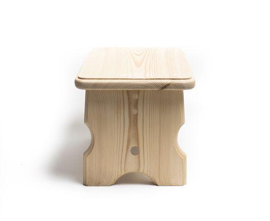 Скамейка из дерева H20. Скамеечка маленькая, фото , изображение 2
