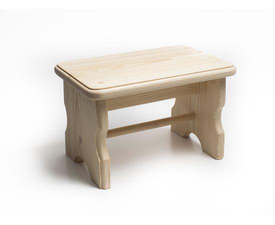Скамейка из дерева H20. Скамеечка маленькая, фото , изображение 3