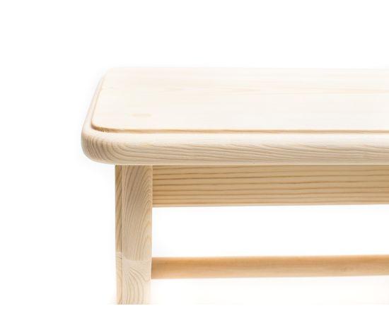 Скамейка из дерева H20. Скамеечка маленькая, фото , изображение 5
