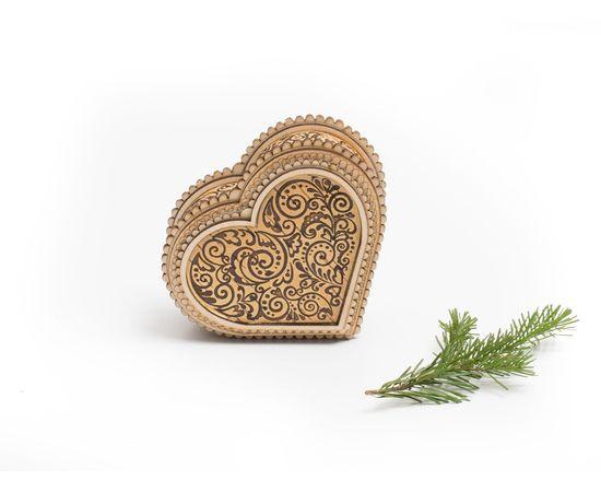 """Шкатулка деревянная """"Сердце"""", фото"""