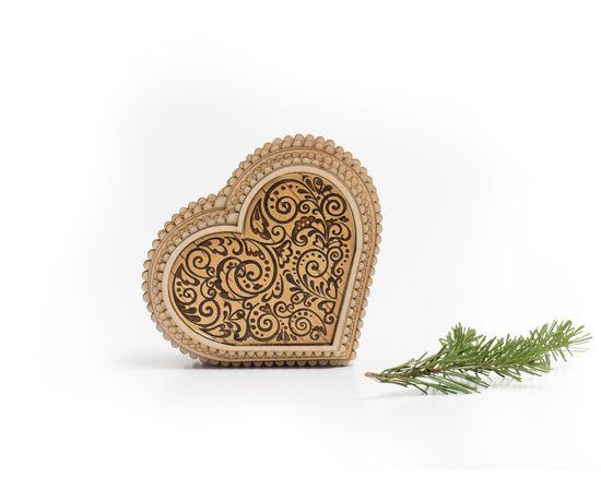 """Шкатулка деревянная """"Сердце"""", фото , изображение 2"""