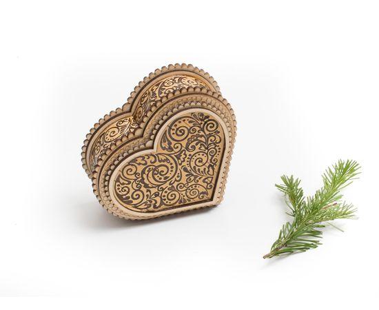 """Шкатулка деревянная """"Сердце"""", фото , изображение 3"""
