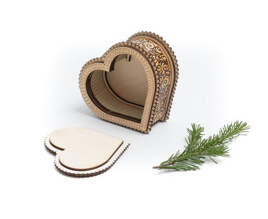 """Шкатулка деревянная """"Сердце"""", фото , изображение 5"""