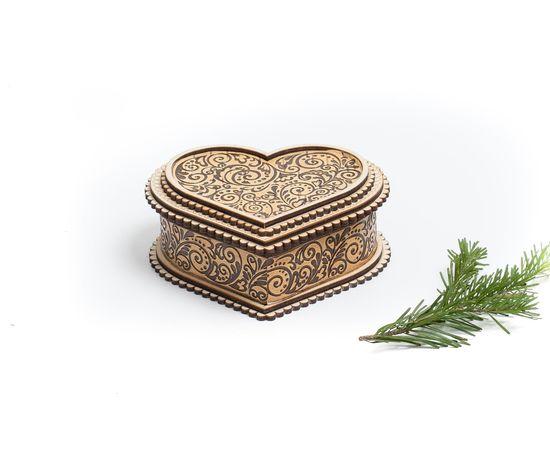 """Шкатулка деревянная """"Сердце"""", фото , изображение 6"""