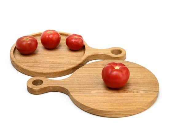 """Тарелка - подставка с ручкой деревянная """"Сковородница"""", фото , изображение 5"""