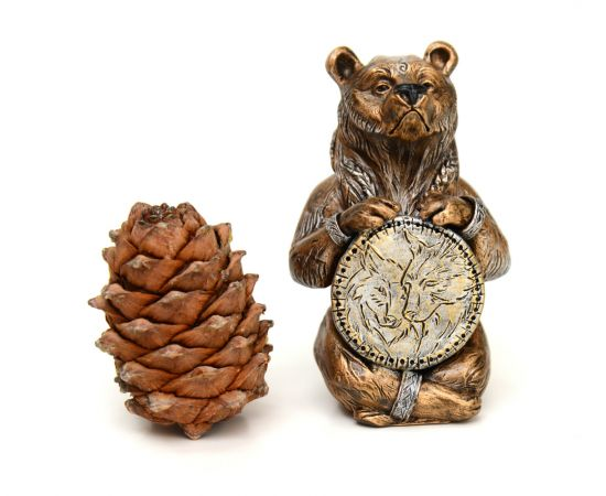 """Статуэтка из камня """"Медведь шаман"""", фото , изображение 2"""