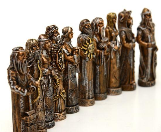 Кумиры славянских Богов из камня. Пантеон Богов. Набор из 10 штук, фото , изображение 5