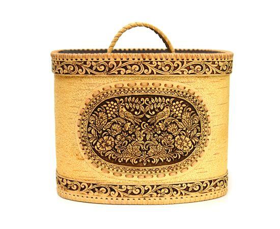 Хлебница - короб из бересты «Соловьи», фото