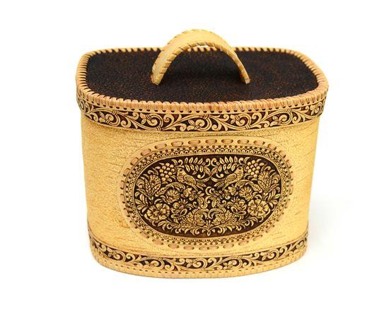 Хлебница - короб из бересты «Соловьи», фото , изображение 2