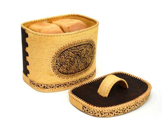Хлебница - короб из бересты «Соловьи», фото , изображение 3