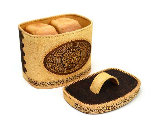 """Хлебница - короб из бересты """"Ромашки"""", фото , изображение 3"""
