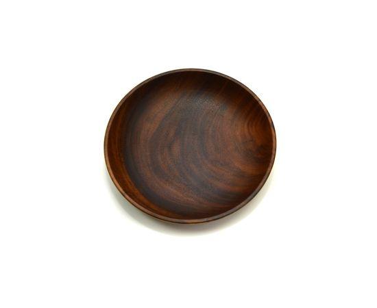 Тарелка деревянная глубокая из акации D20 H4,5, фото , изображение 3