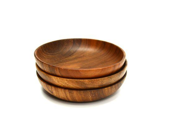 Тарелка деревянная глубокая из акации D20 H4,5, фото , изображение 5