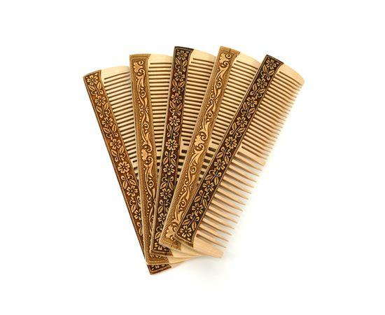 Расческа без ручки декорированная берестой, фото , изображение 4