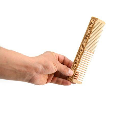 Расческа без ручки декорированная берестой, фото , изображение 2