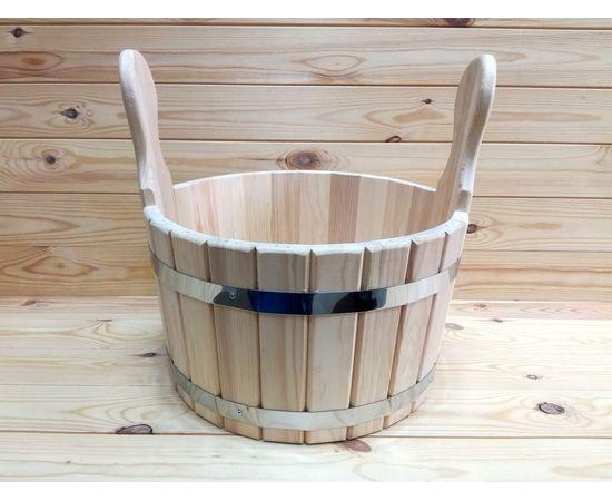 Шайка из кедра. Деревянный тазик для бани 10 л, фото