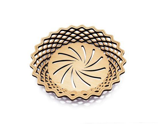 Тарелка из кедра круглая, фото