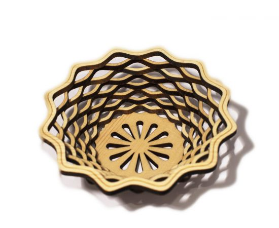 Ваза (Конфетница) из кедра, фото