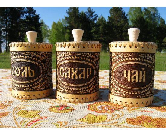 """Набор туесков """"Смородина"""" чай, соль, сахар, фото"""