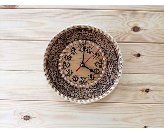 """Часы из бересты малые """"Рябина"""", фото"""