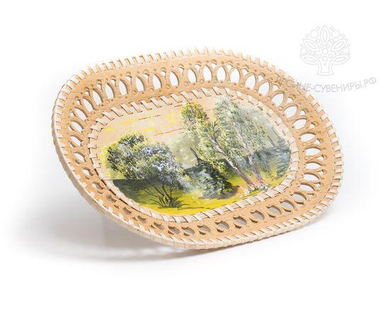 Тарелка на стену расписная «Лето» овальная, фото