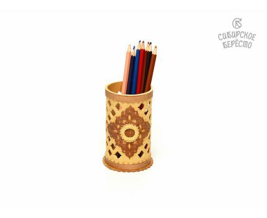 Салфетница - Карандашница из бересты резная, фото