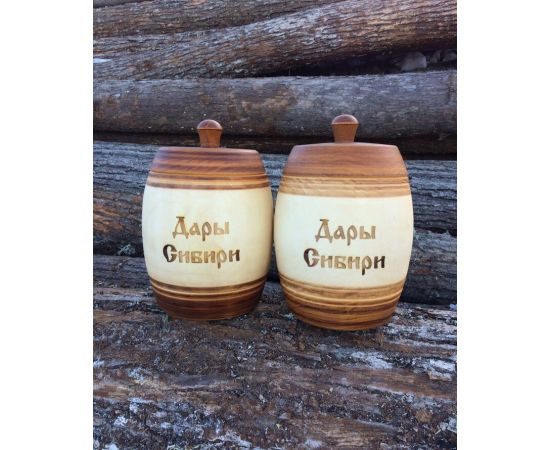 Бочонок деревянный «Дары Сибири» 1,5 кг, фото