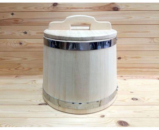 Кадка из кедра 20 л обручи из нержавеющей стали, фото