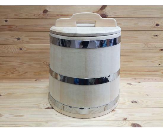 Кадка из кедра 25 л обручи из нержавеющей стали, фото